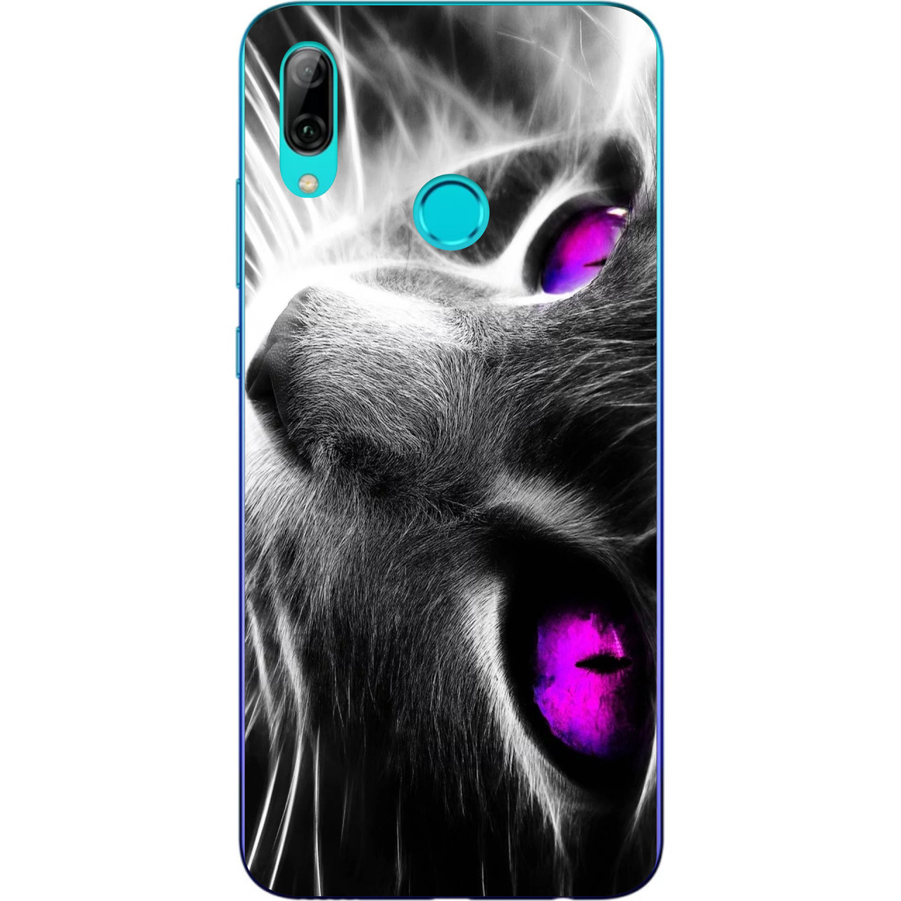 Силіконовий чохол з малюнком для Huawei P Smart Plus Красивий кіт