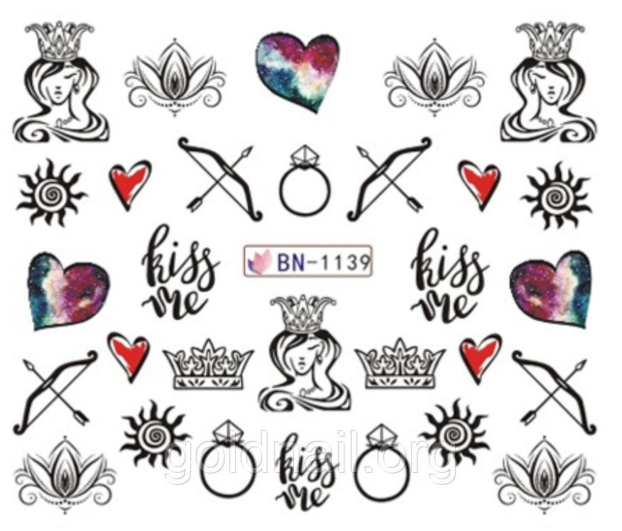 Слайдер водный для дизайна ногтей BN-1139