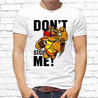 """Чоловіча футболка з принтом """"don't stop me!"""" Push IT"""