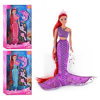 Кукла DEFA 8230, русалка, муз, свет, 3 цвета, аксессуары, в кор-ке, 33, 5-20, 5-5, 5см