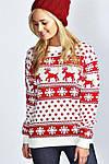 Светр з оленями який матеріал вибрати, де купити жіночий светр