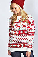 Свитер с оленями какой материал выбрать, где купить женский свитер