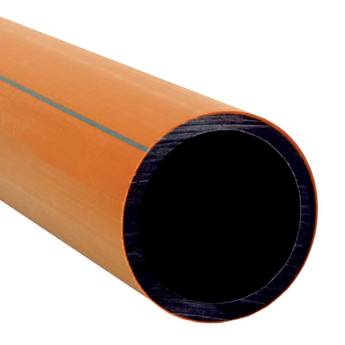 06040_ARGS1 Труба для захисту оптично-волоконного кабелю HDPE (помаранчевий/чорний)