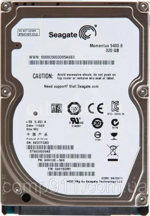 Жесткий диск Seagate Momentus 5400.6 320GB 5400rpm 8MB ST9320325AS 2.5 SATA II