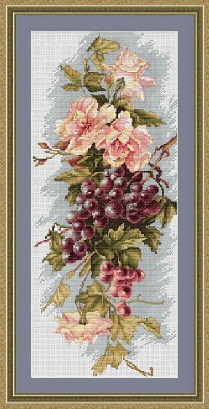 Набор для вышивки крестом Luca-S B212 Композиция с виноградом