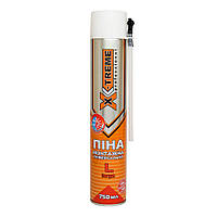 Пена монтажная полиуретановая X-Treme Professional 750 мл x 30 л ручная