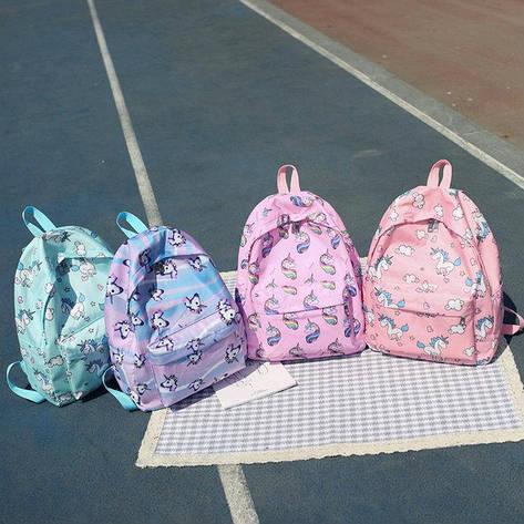 Молодежный рюкзак с Единорогами, фото 2