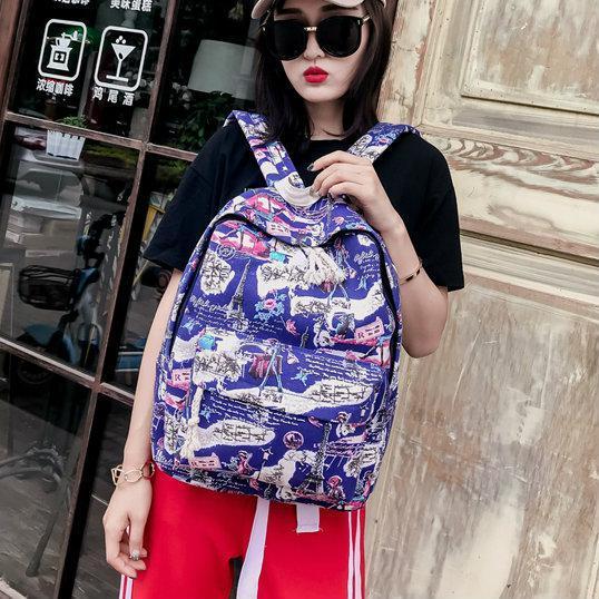 Молодежный рюкзак Париж синий
