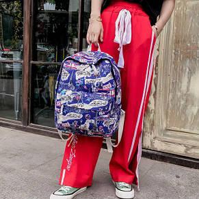 Молодежный рюкзак Париж синий, фото 2