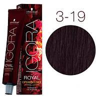 3-19Краска для волос Schwarzkopf Professional Igora Royal Opulescence Темный коричневый сандре фиолетовый 60мл