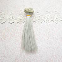 Волосы для Кукол Трессы Прямые ПЕПЕЛ 50 см