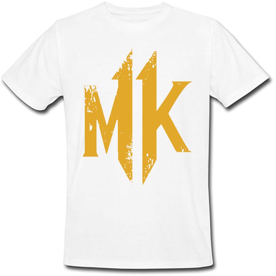 Футболка Mortal Kombat 11 - Logo (белая)