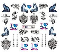 Слайдер водный для дизайна ногтей BN-1136