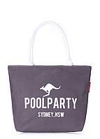 Сумка женская коттоновая PoolParty (коттон pool-9-grey), фото 1
