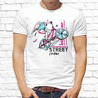 """Мужская футболка Push IT с принтом Велосипедист """"Street ryder"""""""