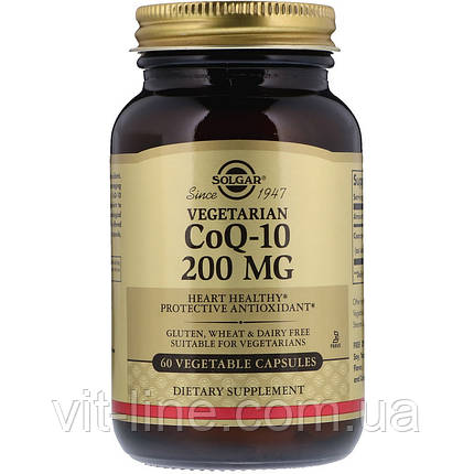 Коэнзим Q10 CoQ-10 200 мг 60 капсул Solgar, фото 2
