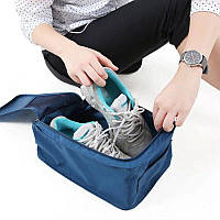 Сумка чехол для обуви. Организатор для обуви. Travel темно синий