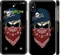 """Чехол на iPhone X Череп в кепке """"4127c-1050-15920"""""""