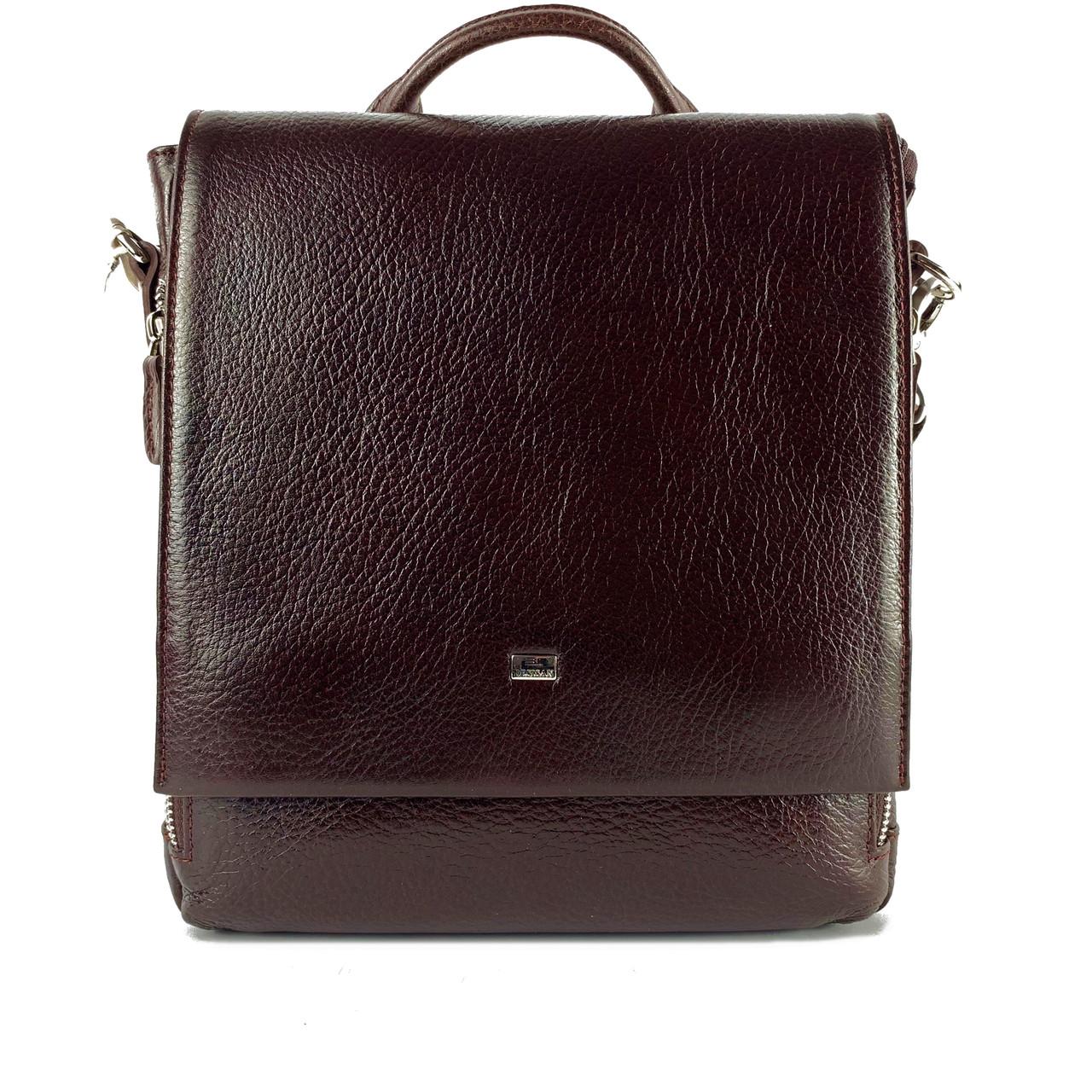 Чоловіча сумка через плече-шкіряна Desisan 344-019 месенджер кориневый