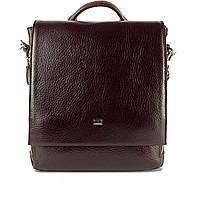 Мужская сумка через плечо кожаная Desisan 344-019 мессенджер кориневый