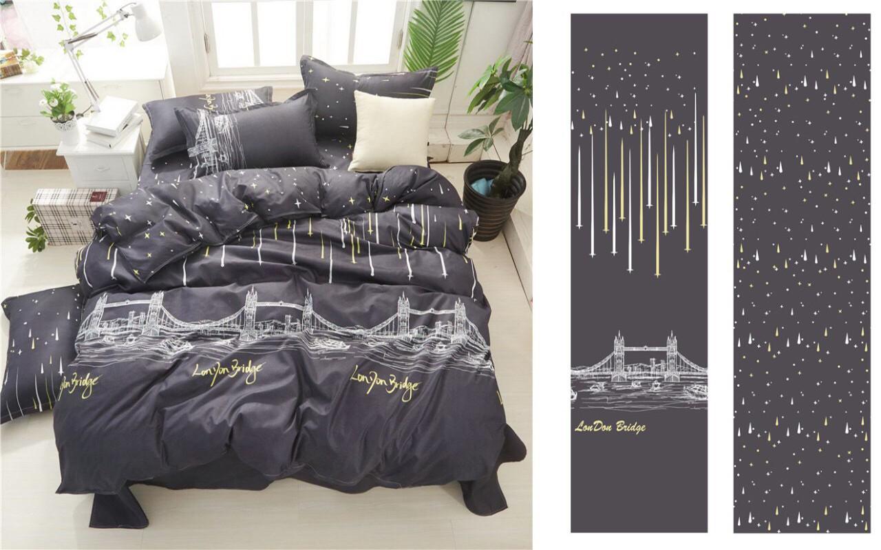 Семейный комплект постельного белья сатин (12403) TM КРИСПОЛ Украина
