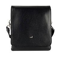 Мужская сумка через плечо кожаная Desisan 1321-01 мессенджер черный