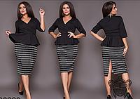 Женское приталенное платье, с 46-60 размер, фото 1