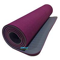 """Коврик для йоги и фитнеса, """"KETTLER"""" 1830х610х6мм, TPE+TC, двухслойный"""