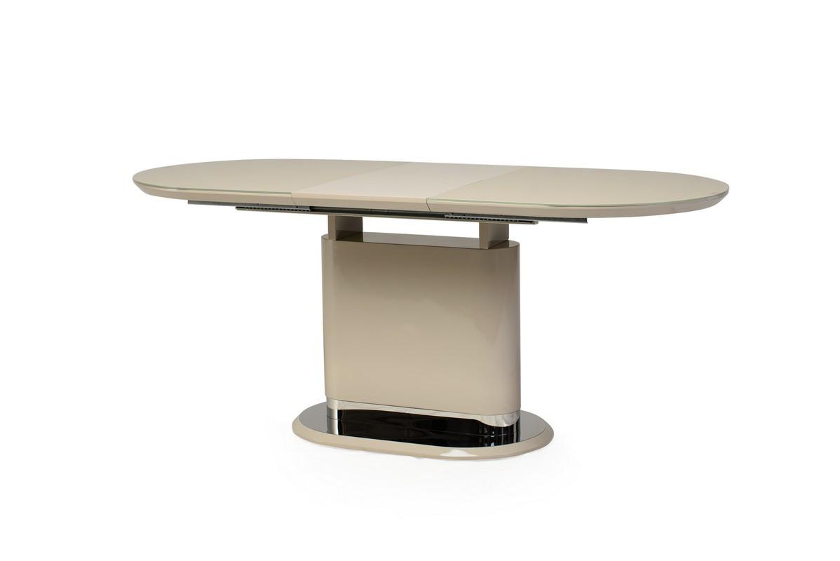 Стол ТМ-56 капучино глянец от Vetro Mebel (140-180)*80*76(Н)