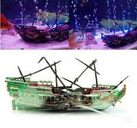 Декор для аквариума затонувший корабль