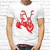 Мужская футболка Push IT с принтом Велосипед