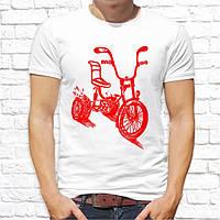 Мужская футболка с принтом Велосипед Push IT
