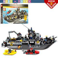 Конструктор 102467 Корабль спецназа (аналог Lego City), (864 деталей)