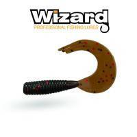 Силиконовая приманка Wizard TRIPLE Tail Grub 3.5см Pumpkin Flake 10шт /уп