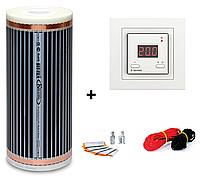 Пленочный теплый пол Hot Film 4м² (0.5м х 8м)  880Вт/220Ват/м² c терморегулятор Terneo st unic