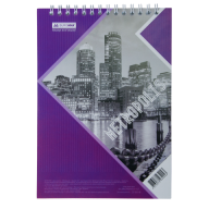 Блокнот на пружине Buromax Metropolis А4 48 листов клетка фиолетовый
