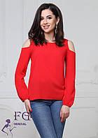 Стильная шифоновая блузка с открытыми плечами 003В/01, фото 1