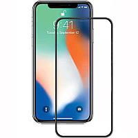 Защитное цветное стекло Mocoson 5D (full glue) для Apple iPhone X / XS / 11 Pro Черный