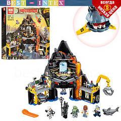 Конструктор Lepin 06072 Логово Гармадона в жерле вулкана (583 деталей). Аналог Lego Ninjago Movie