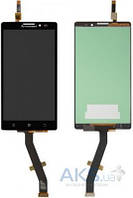 Дисплей (экран) для телефона Lenovo K910 Vibe Z + Touchscreen Original Black
