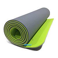 """Коврик для йоги и фитнеса, """"JOIFIT"""" 1830х610х6мм, TPE+TC, двухслойный"""