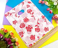 (≈ 40шт) Подарочные пакетики 25х18см, полиэтилен Цвет - на фото