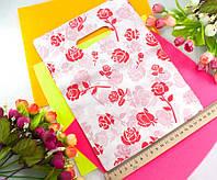 (≈ 40шт) Подарочные пакетики 28х20см, полиэтилен Цвет - на фото
