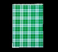 Блокнот на пружине Buromax Shotlandka А4 48 листов клетка зелёный