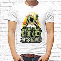 "Мужская футболка Push IT с принтом Скейтбордист ""Pro skaters"""
