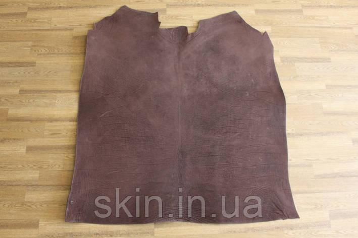 Кожа натуральная ременная коричневая, толщина 3.5 мм,  арт. СК 1721, фото 2