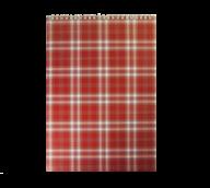 Блокнот на пружине Buromax Shotlandka А4 48 листов клетка бордовый