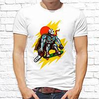 Мужская футболка с принтом Скейтбордист Push IT