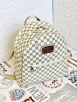 Рюкзак большой  школьный  городской Louis Vuitton  (реплика Луи Витон) LV ,белый