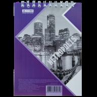 Блокнот на пружине Buromax Metropolis А6 48 листов клетка фиолетовый